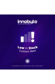 Low in Stock Custom Alert Logo