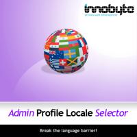 Admin Profile Locale Selector